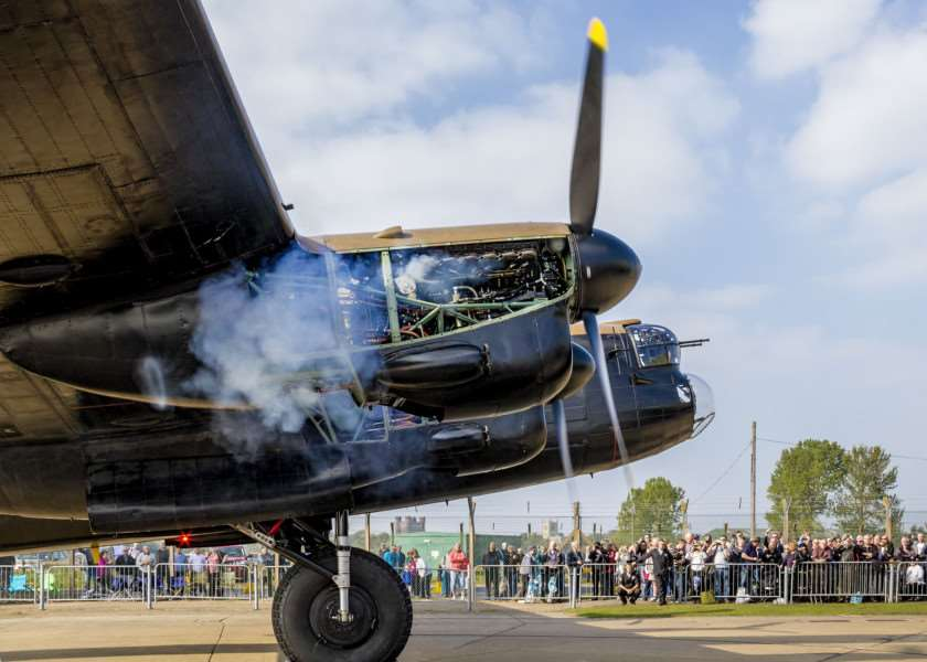 The Avro Lancaster will take flight on Monday.