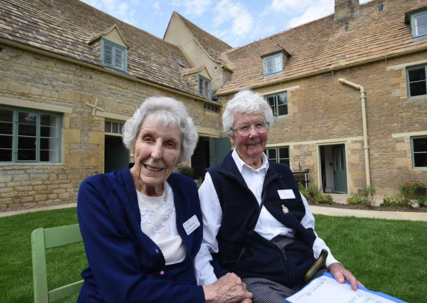 Sacrewell Mill re-opens after refurbishment. Land Army girls Edna Dixon and Mary Watson who lived at the mill. EMN-150719-230648009