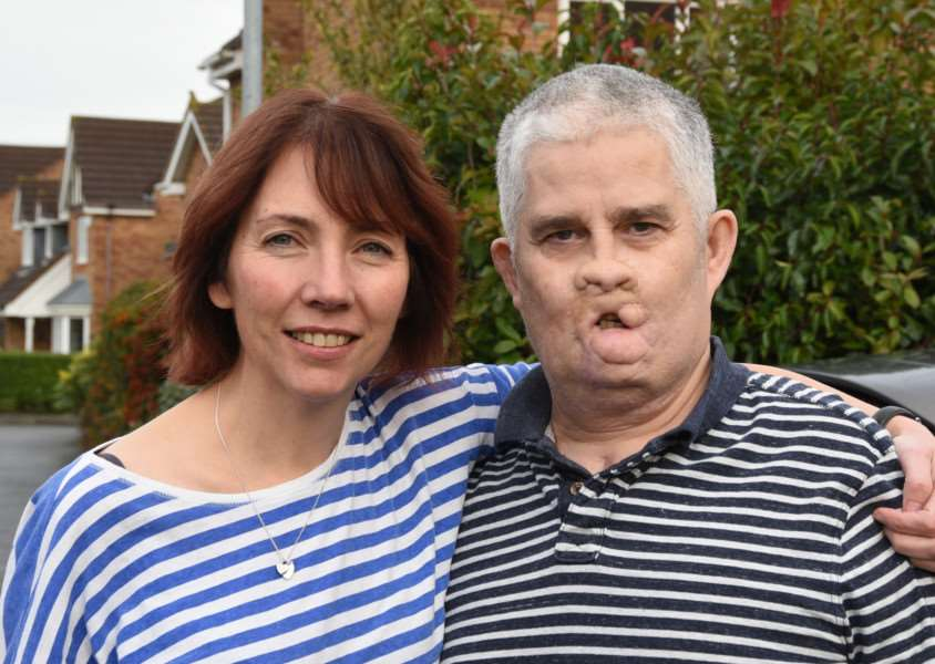Tom Ray and wife Nicola Ray at Oakham. Tom had Pneumococchal septicaemia EMN-151124-160516009