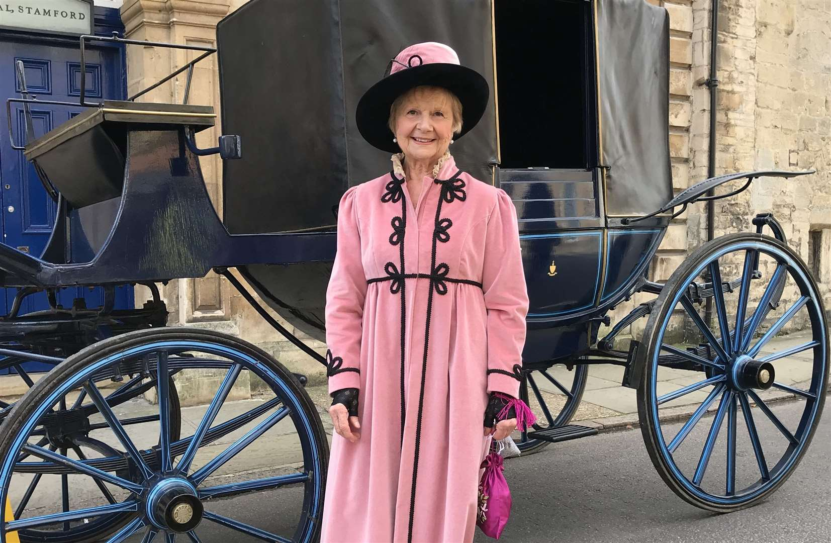 Jill Collinge, who has worked as a tour guide in Stamford for 25 years, often dressing for the role