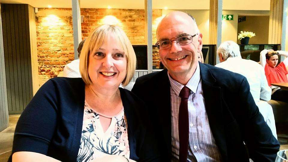 Living proof that first aid works - heroic Michele Smith and her husband Andy