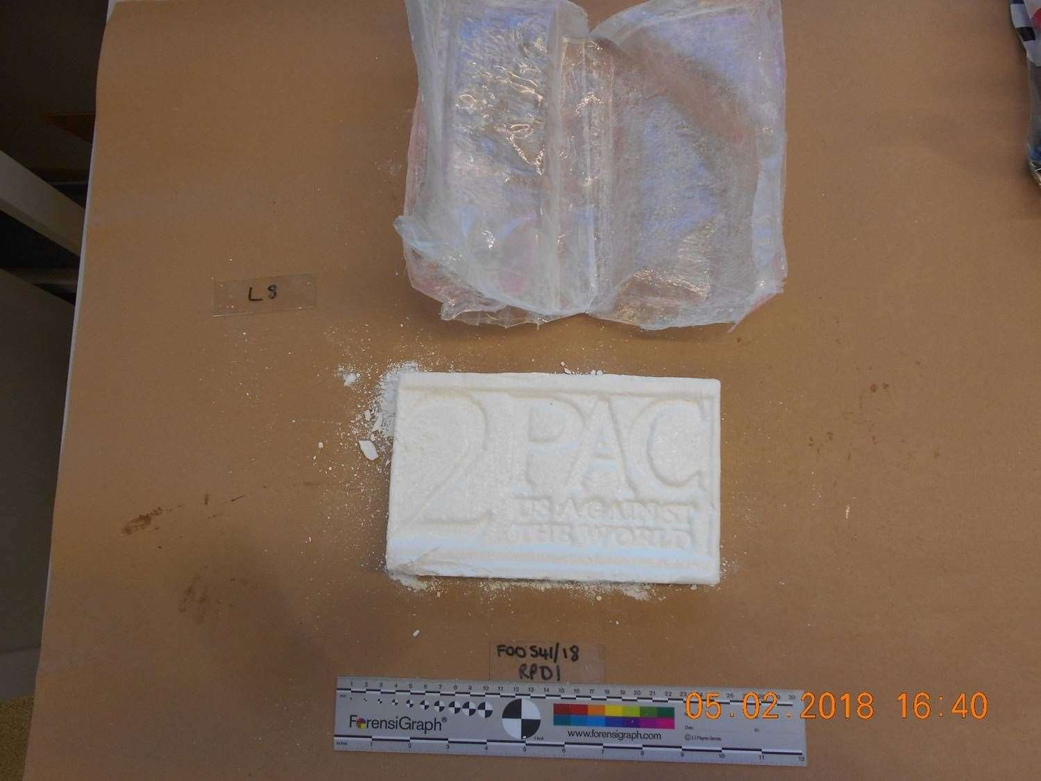 Cocaine seized by police