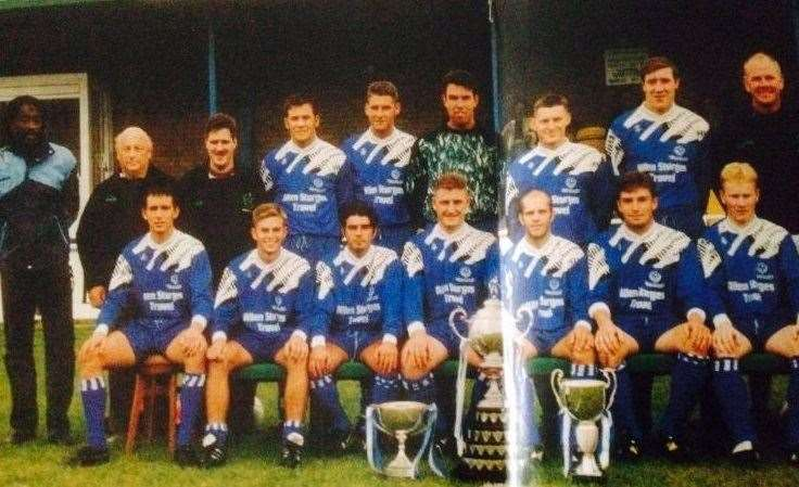 Michael Goode (front row, second left) as a Bedford Town player. (15609382)