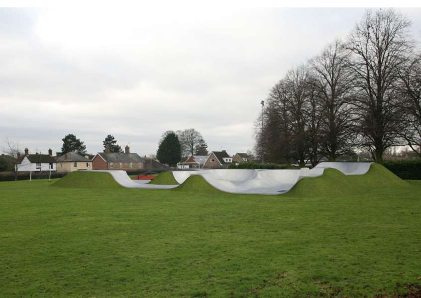Proposed designs for Dimension Skatepark in Bourne. Design by Wheelscape, photo Helen Willcock.