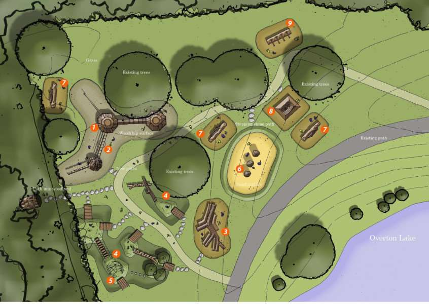 An artist's impression of the new badger play area at Ferry Meadows. Photo: Davies White EMN-150817-172312001