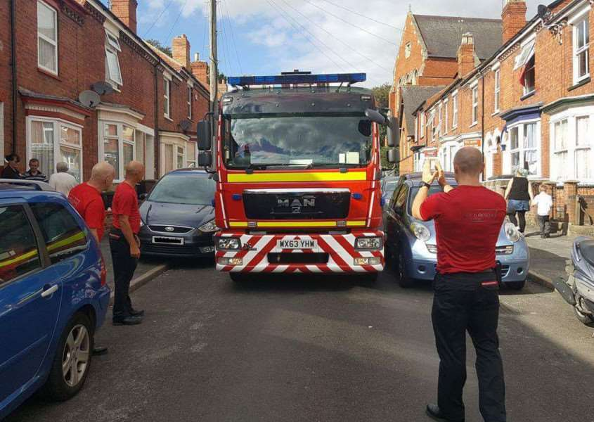 One example of how bad parking can hinder emergency services
