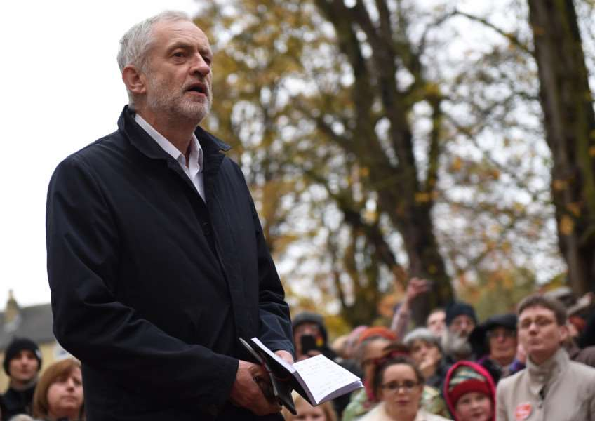 Speaking today in Sleaford - Jeremy Corbyn. Photo: Toby Roberts EMN-161120-165046001