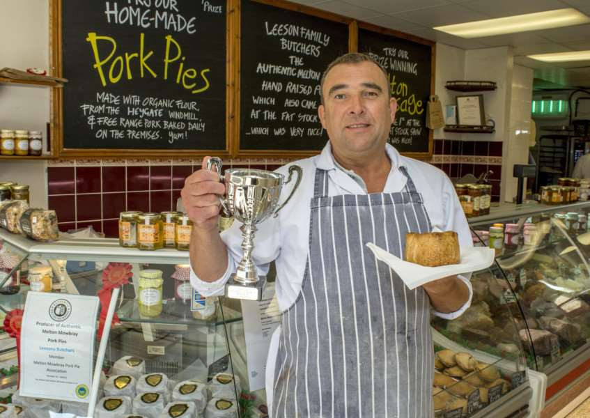 Stephen Leeson who won an award for his pork pies at PieFest in Melton Mowbray. By Lee Hellwing