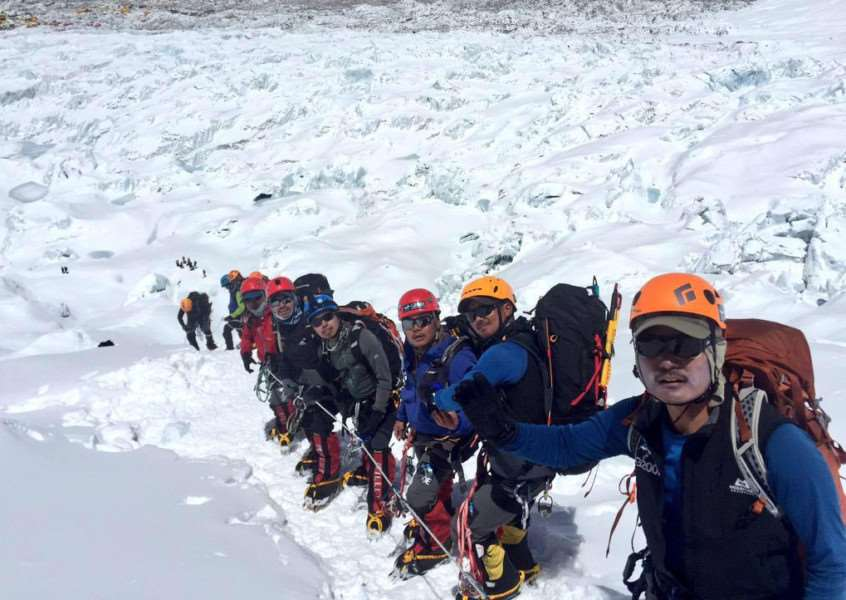 The Gurkha 200 Everest Expedition team who were attempting to summit Mount Everest have been rescued by helicopter after Nepal was devastated by an earthquake killing more than 3,200 people. EMN-150427-100034001
