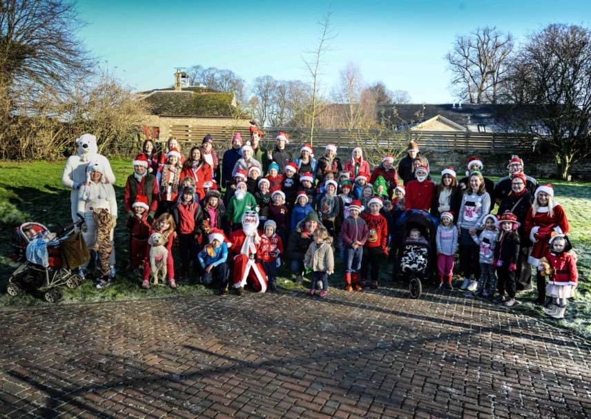 All of the santas before the North Luffenham Santa Fun Run. Pictures by Alan Walters. EMN-140812-145445001