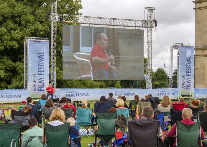 Actor Warwick Davis answers fans questions during the first day of the Burghley Film Festival 2016'Photo: Lee Hellwing EMN-160727-170401001