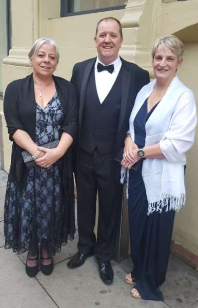 L-R Mary Spier, Steve Pratten and Mandy Lowe from the Community Response Team prior to the awards event.