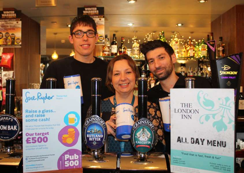 London Inn in Stamford has signed up to Pub500 for Thorpe Hall Hospice EMN-160302-135933001