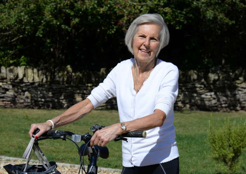 Catherine Hancox, 71, from Collyweston, is raising money for a sponsored cycle ride across Cuba EMN-160824-154544001