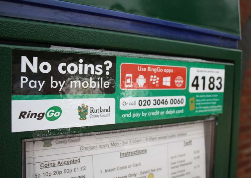 Cashless parking is introduced to Rutland. EMN-151108-164323001