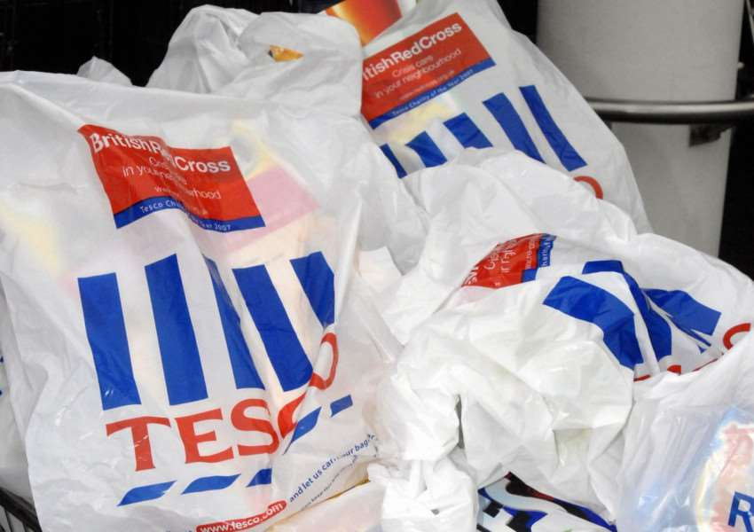 Tesco carrier bags issue: Photo PA