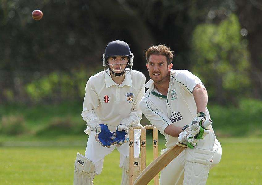 Andy Larkin top scored for Ufford Park at Burghley Park.