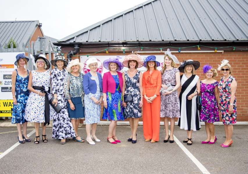 Members of Rutland Sewing group prepare for Ladies Day at Ascot