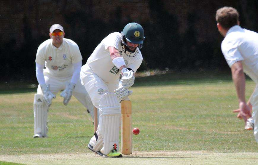 Jamie Morgan made 82 for Deeping in their defeat against Boston. Photo: Tim Wilson. (3558354)