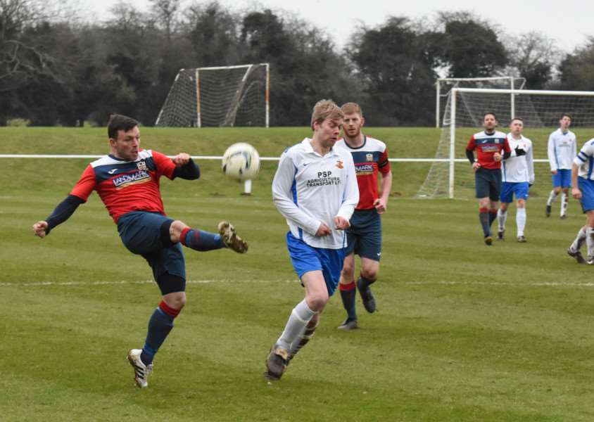 Action from Cottesmore Amateurs v Barlestone St Giles. Photo: Alan Walters EMN-160216-092558001