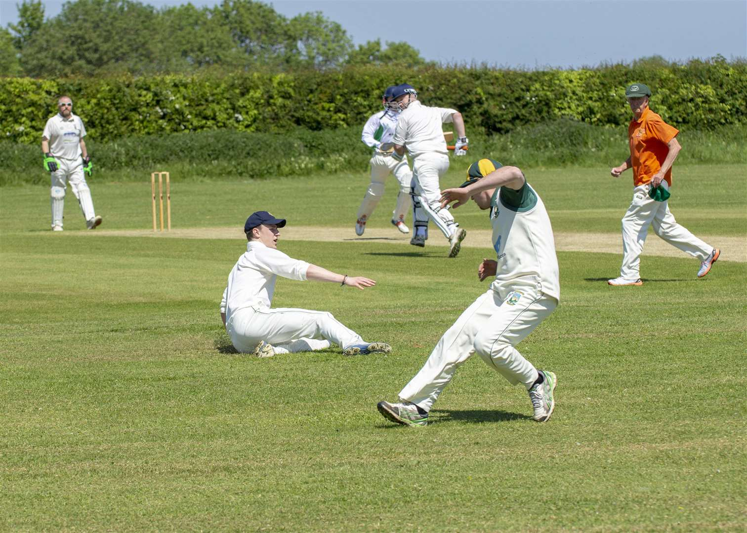 Easton-on-the-Hill v Castor 2nds. Photos: Lee Hellwing (2100098)