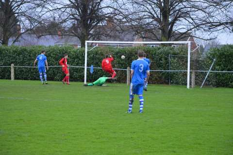 Action from Bourne Town v Lutterworth Athletic. Photo: Bob Lambert. EMN-160126-094405001