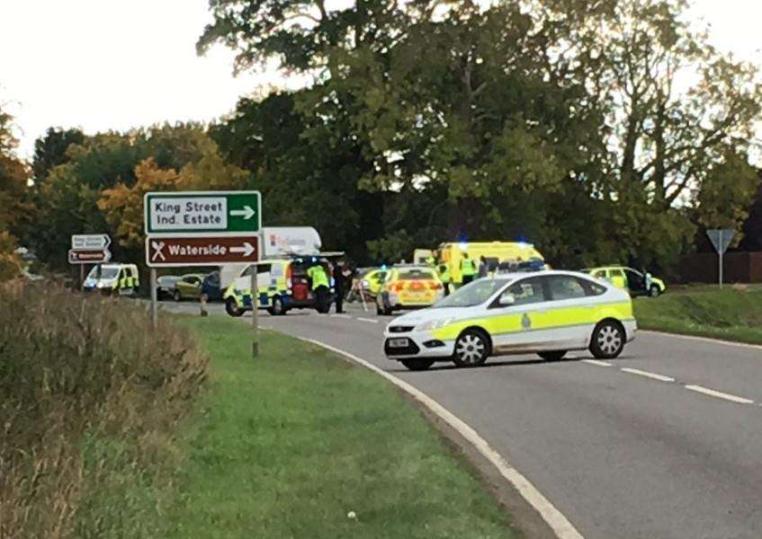 The scene of the crash on the A15 at Baston