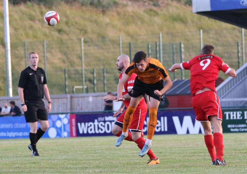Action from Stamford AFC v Wolverhampton Wanderers in pre-season. Photo: Geoff Atton EMN-160408-103615001