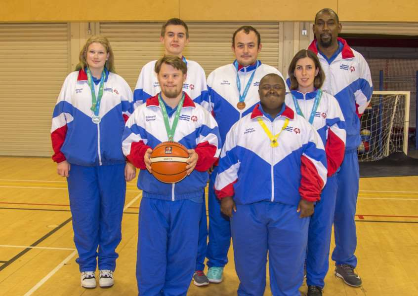 Members of the Rutland Conquerers Inclusive Basketball club
