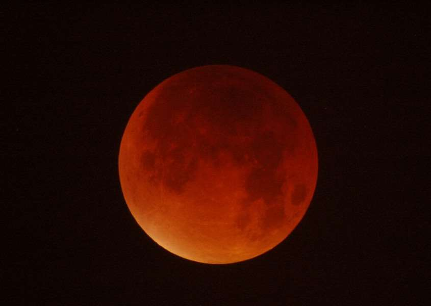 Jonathan Turner from Grantham took this photo of last night's Super Blood Moon