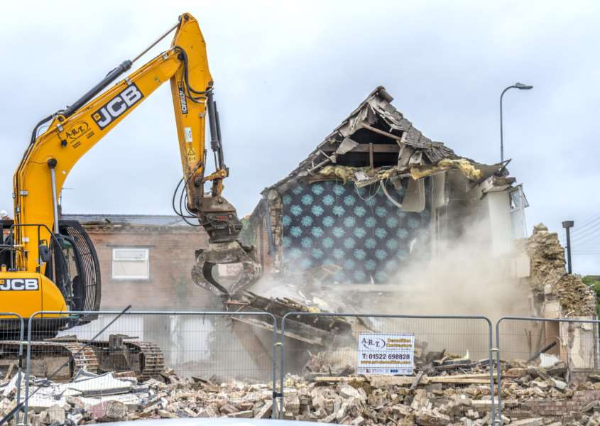 Demolition of Lord Nelson pub. By Lee Hellwing.