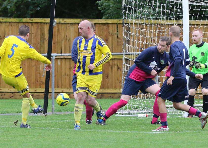 Oakham United Reserves v Moulton Harrox Reserves. Photo: Geoff Atton EMN-160914-171237001
