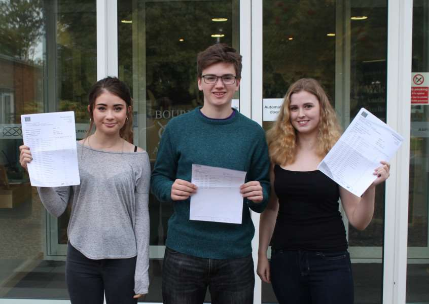 Ben Jagger, Annabelle Snape and Laura Campbell (13A*s and 19As between them)