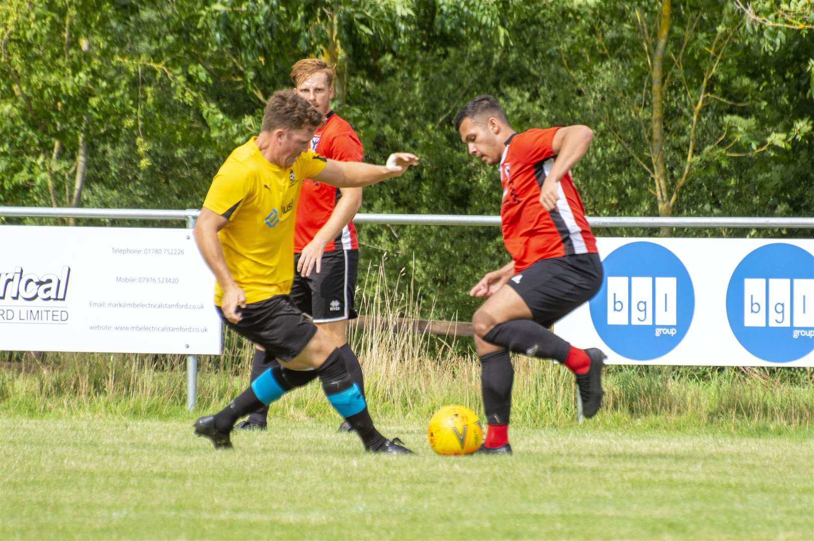Match action from Ketton's 1-1 draw with Parson Drove. Photo: Lee Hellwing (15101599)