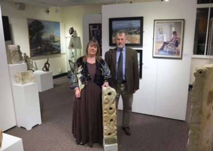 Mo Gardner and Roy Holley at the opening of their exhibition at Rutland County Museum ENGEMN00120130912155756