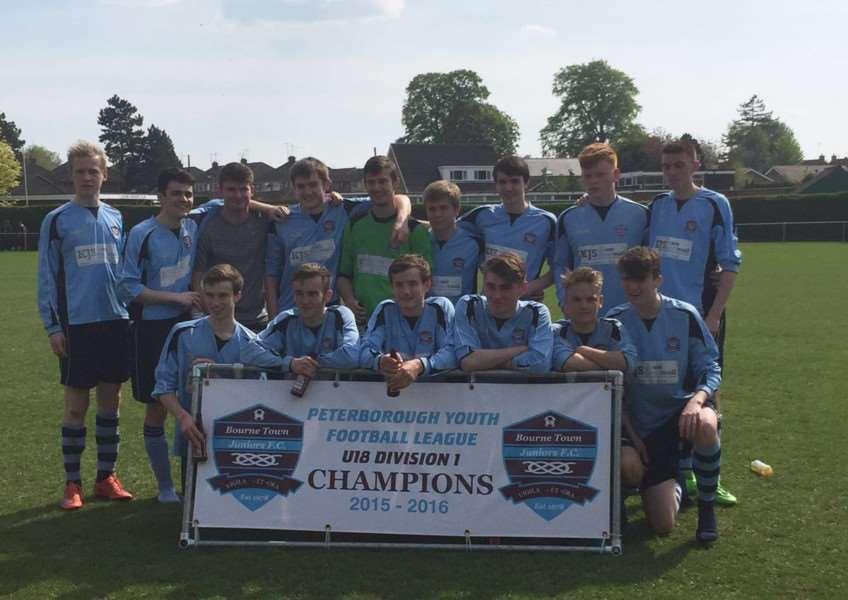 Bourne Town U18s are league champions EMN-160518-114529001