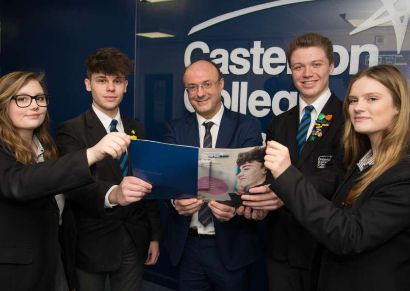 Casterton College Rutland celebrates a good Ofsted report'Photo: Alan Walters