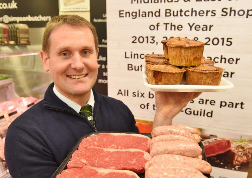 Gary Simpson at the award winning butchers Simpsons at Stamford Garden Centre. EMN-161021-180821009