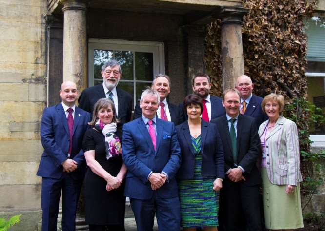 Members of Lincolnshire County Council's new executive EMN-150515-145702001