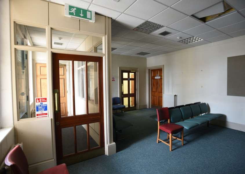 Interiors and exteriors of the Town Hall at Bourne EMN-151013-162205009