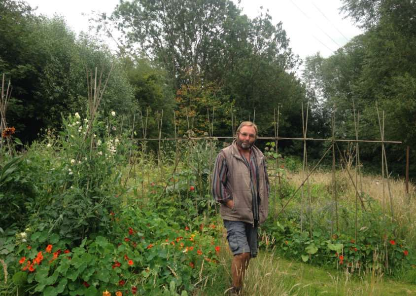 Rob Bowley at his allotment in Brooke Road, Oakham EMN-150608-114431001