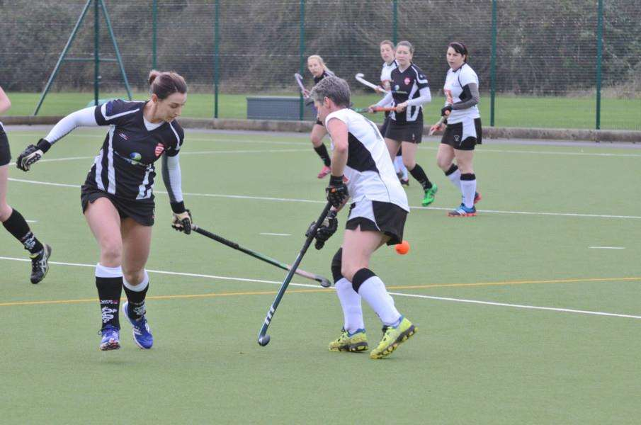 Hockey action from Bourne Deeping Dragons ladies v Leadenham at AMVC EMN-160901-192651009