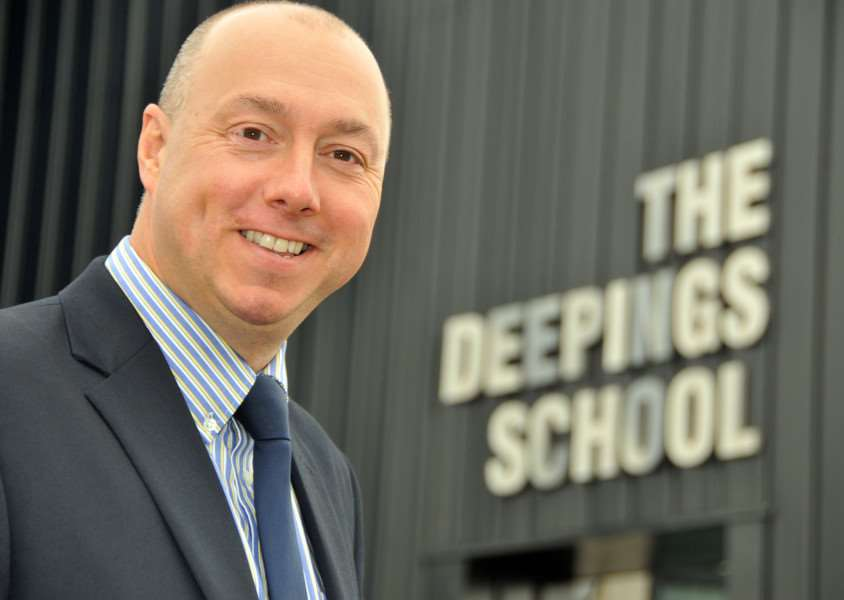 Richard Lord, who took over as head teacher of The Deepings School on September 1. Photo by Tim Wilson.