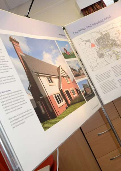Bloor Homes shows off plans to build 75 new homes in Uppingham. Photo: Alan Walters MSMP-13-05-15-00 EMN-150514-095809001