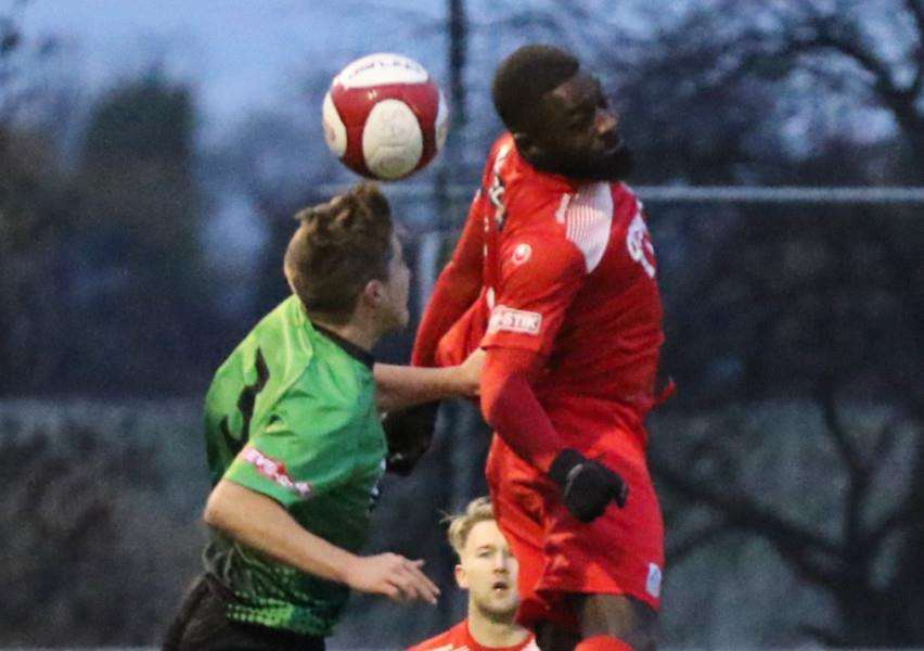 Action from Stamford AFC v Leek Town. Photo: Geoff Atton EMN-161122-092342001