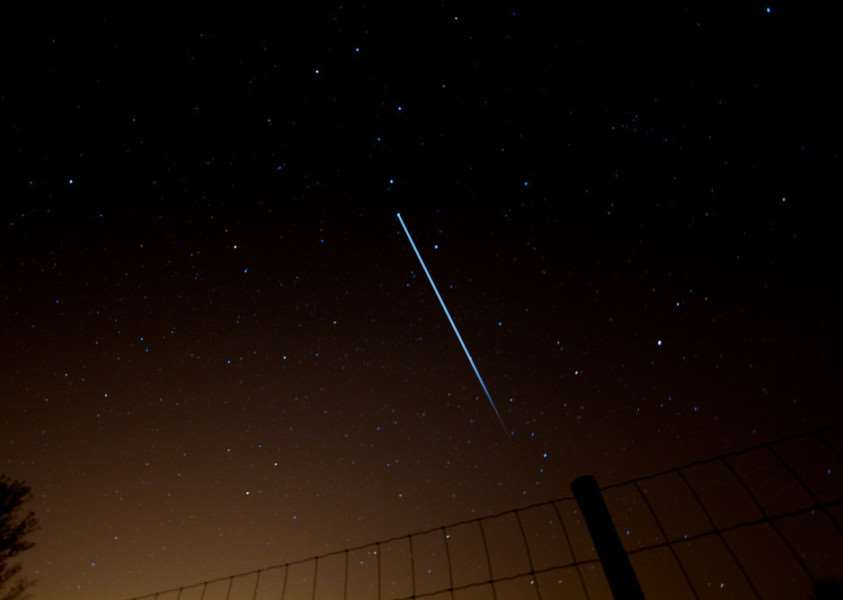 The ISS will be visible in the skies above the UK on Christmas Eve weather permitting. Photo: Paul Williams