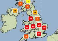 High and Very High pollen levels forecast for the end of this week