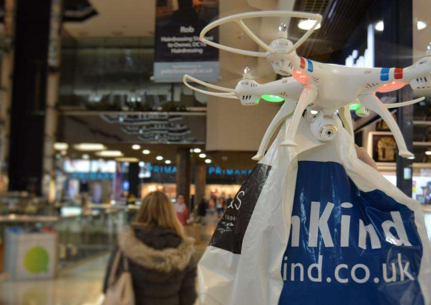 Let a drone carry your shopping.
