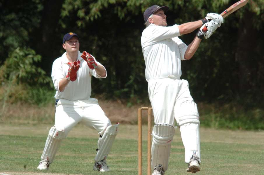 Baston v Stamford 2nds cricket, Baston batsman John Lamin in action