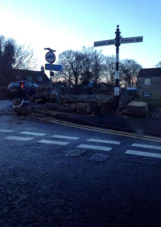 Lorry crashes into bridge in Deeping St James. Photo courtesy of Guy Sharpe.